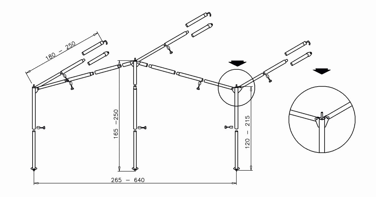 Komplettgestänge Standard - Stahl