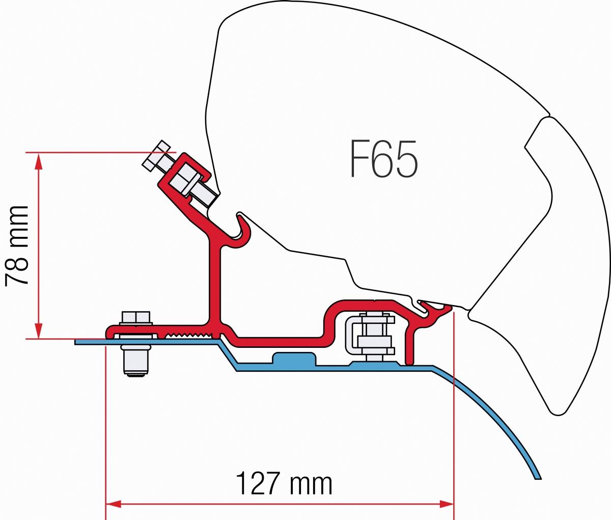 Fiamma F65 Fiat Ducato Jumper Boxer H3 Adapter