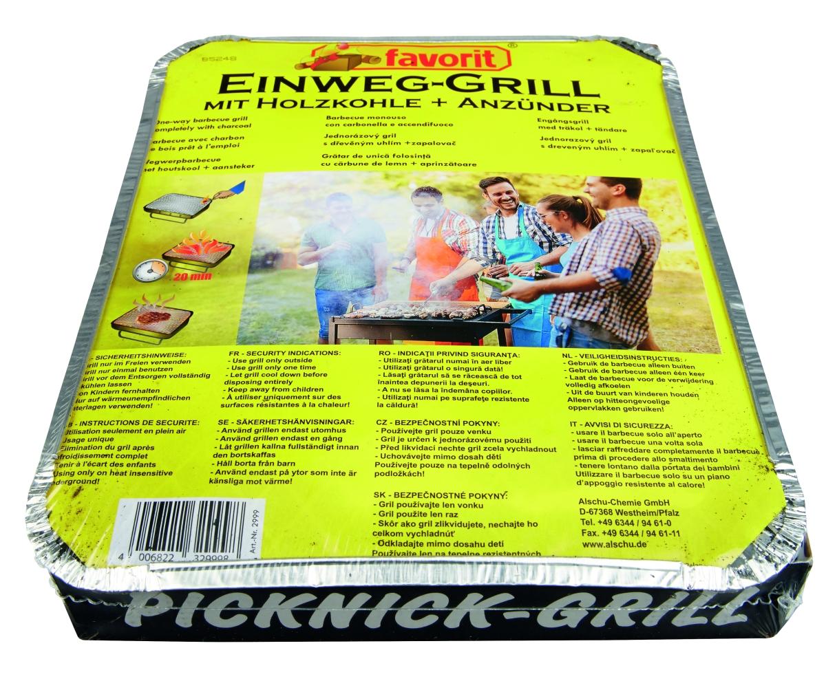 Einweg- und Picknick-Grill