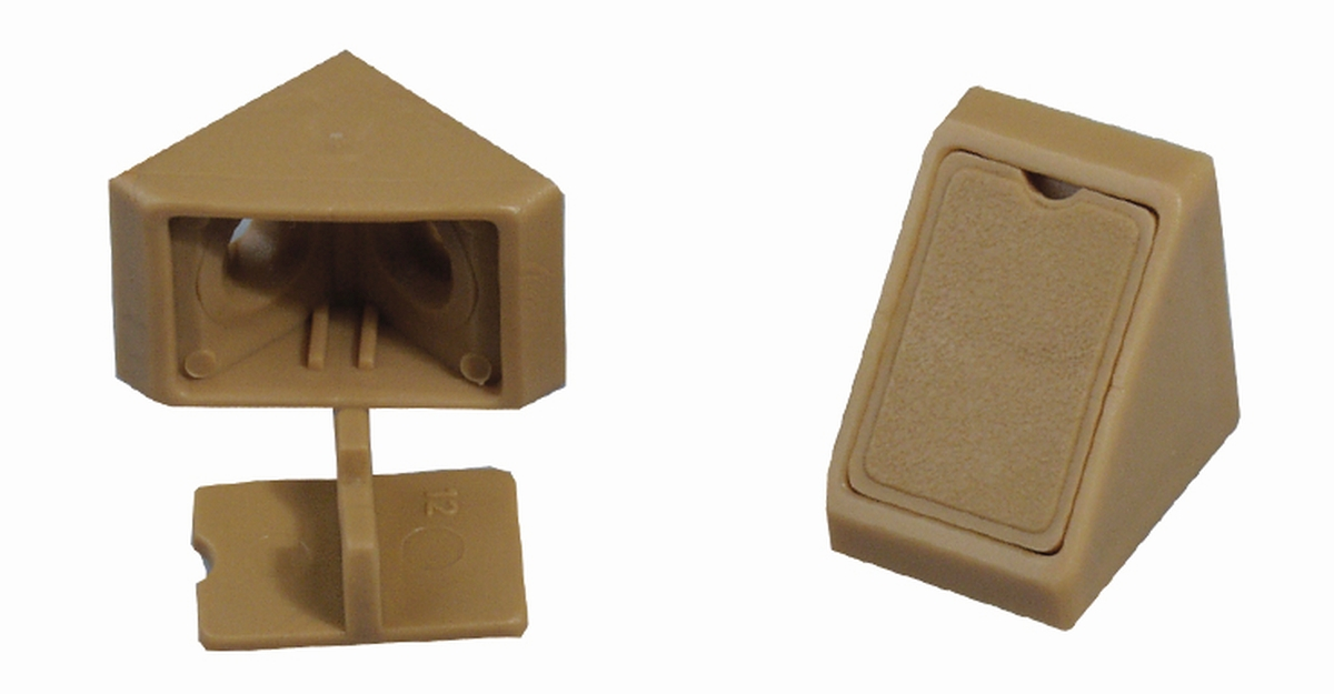 Mini-Eckverbinder beige (5er-Pack)