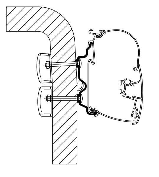 Thule Omnistor Hymer 2016 Adapter 350 cm