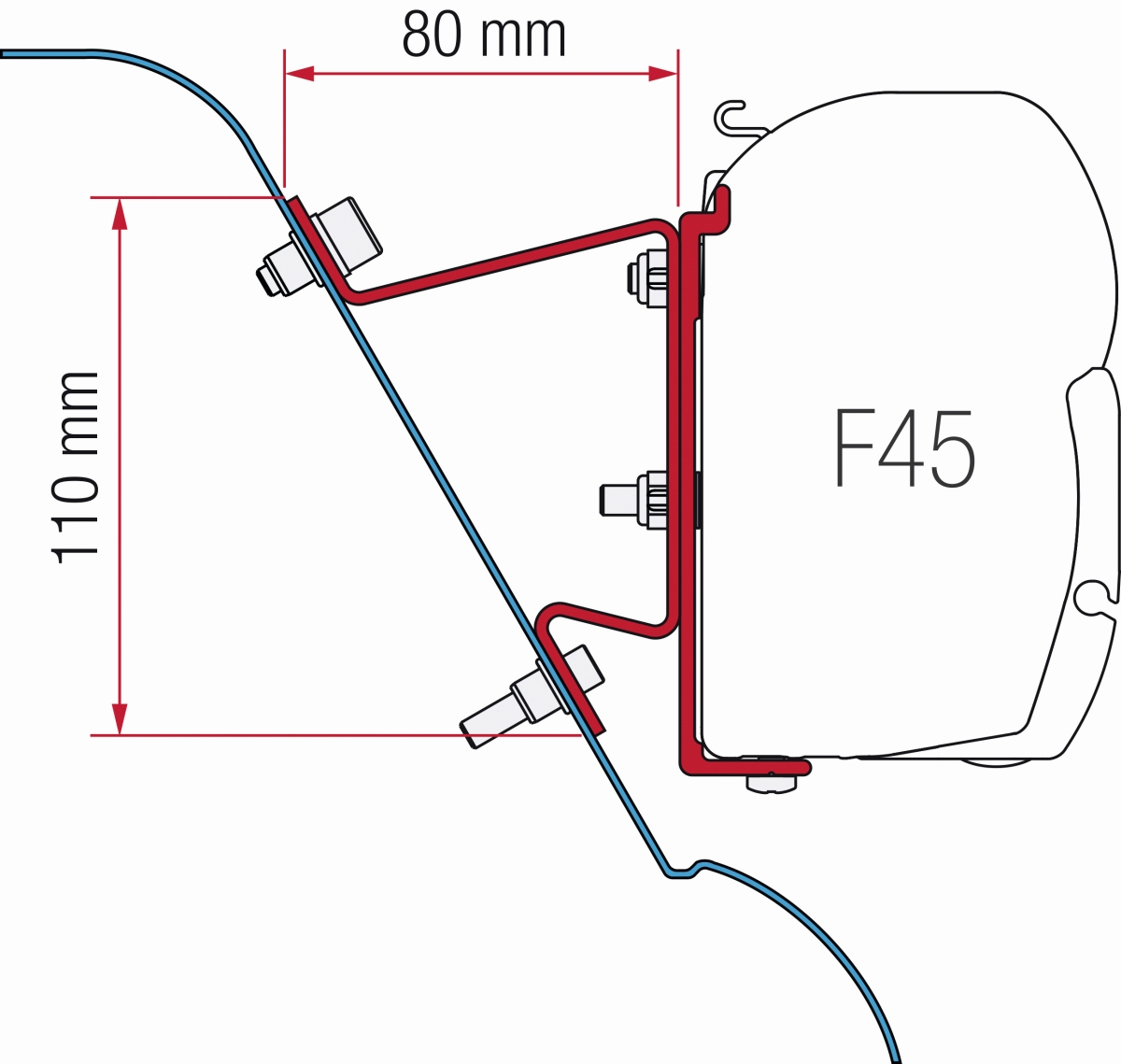 Fiamma Sprinter H3 Westfalia Crafter Adapter Kit