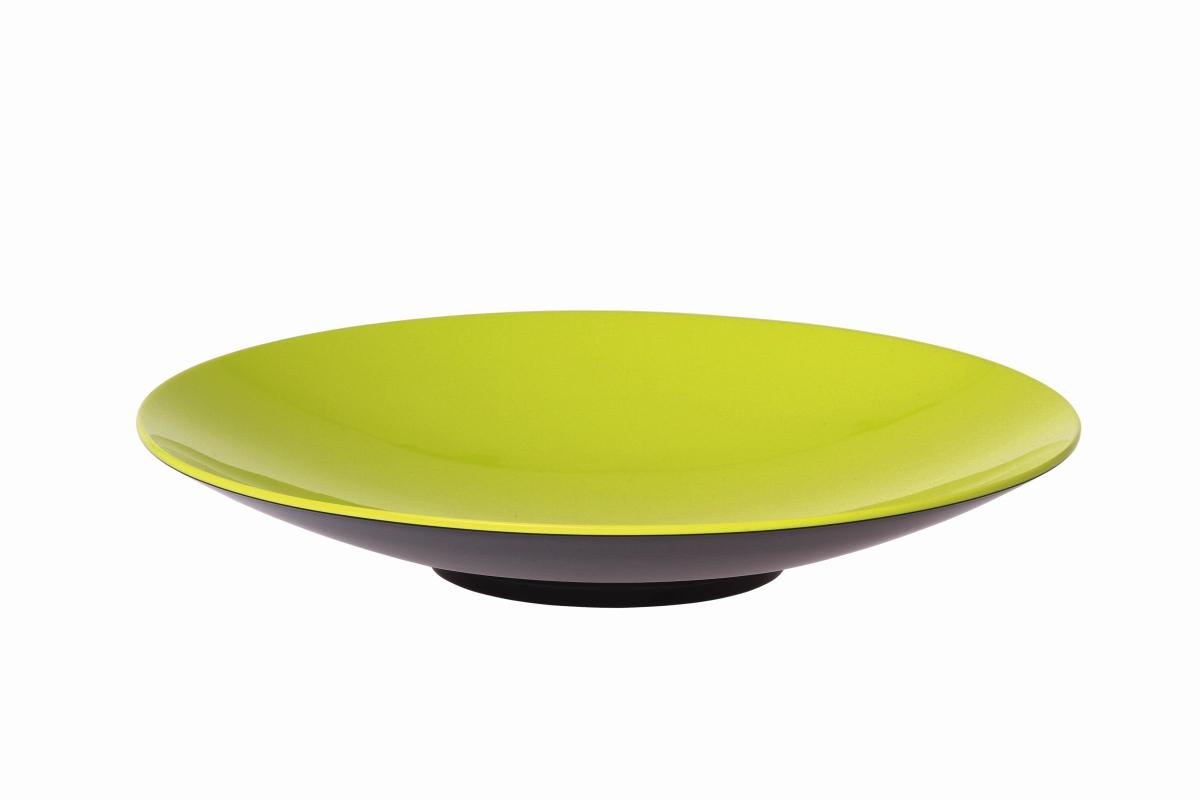 Gimex Pastateller grau-lime 23 cm