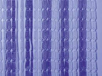 Lamellenvorhang grau-blau