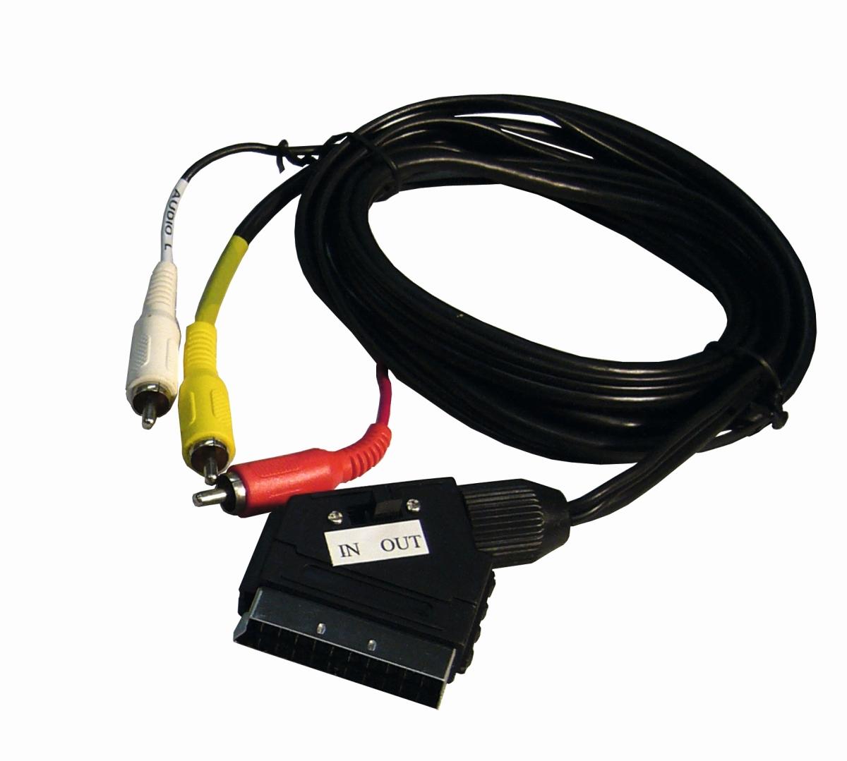 SCART-Adapter mit 5 m Kabel