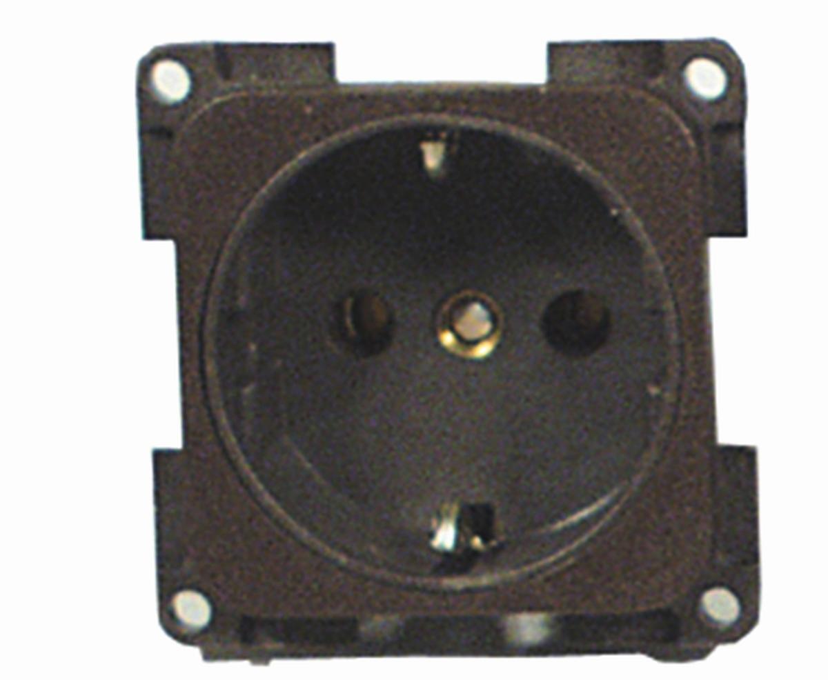 Einbau-Steckdose 230 V braun