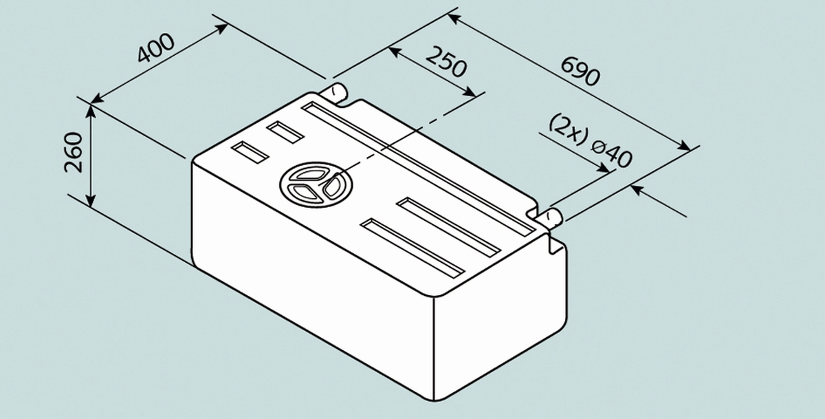 Fusion Wassertank 63 l
