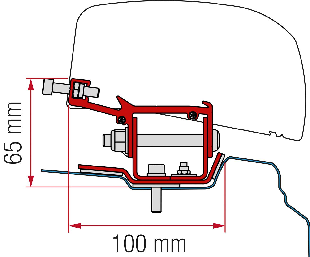 Fiamma Adapter F40 Kit Renault Trafic L1 ab 2014