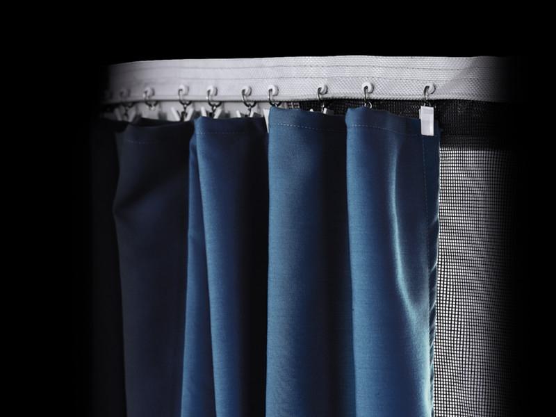 Thule Gardinen Panorama blau