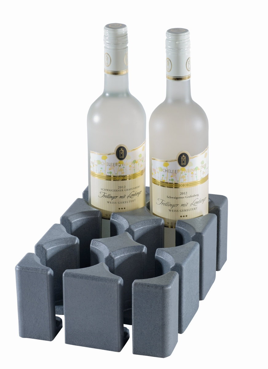 Purvario Modul II 6er Flaschenhalter hoch