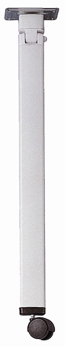 STAR-Alu-Gelenk-Stützfuß mit Rolle silber