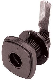 Safe-Tec Klappenschloss quadratisch schwarz