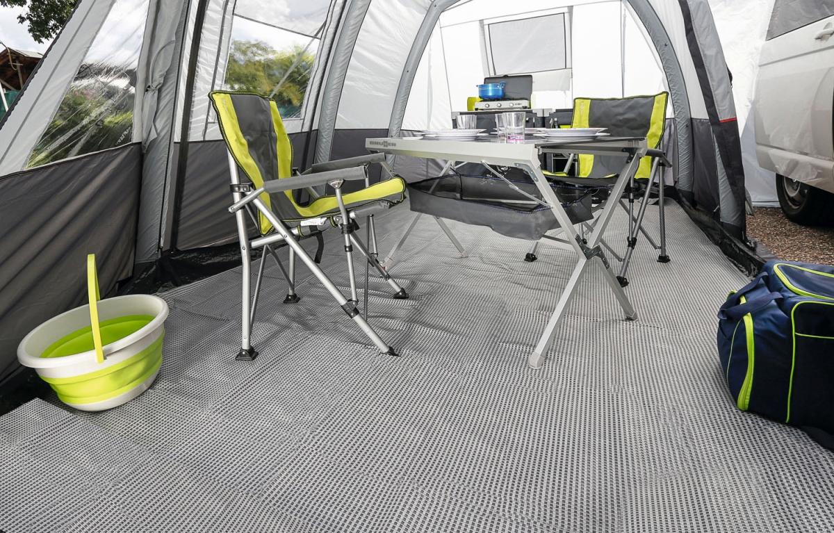 Zeltteppich KINETIC grau 250x500 cm