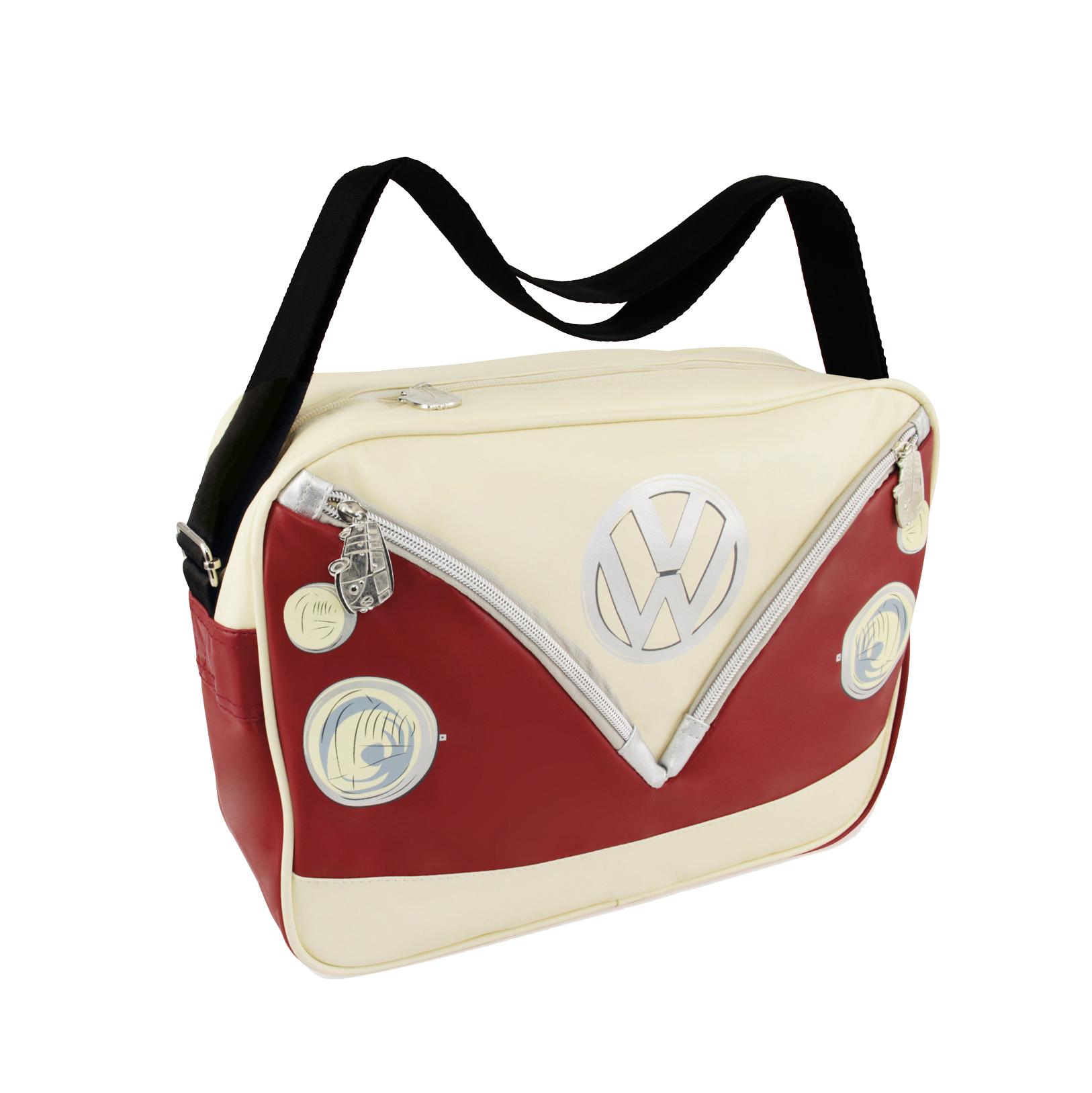 VW Collection Schultertasche rot-weiß