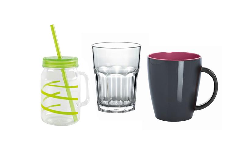 Gläser, Becher & Tassen