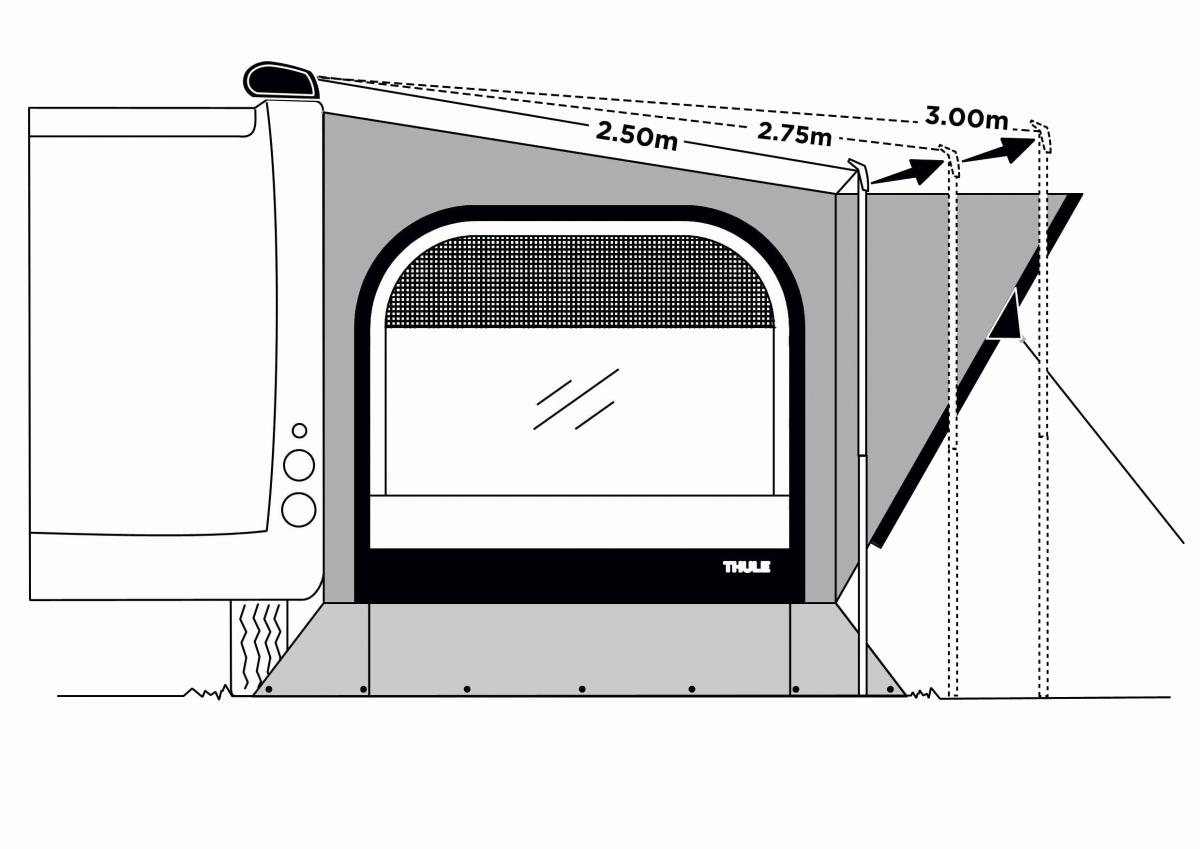Thule QuickFit EasyLink Kit 275-300 cm Auszug