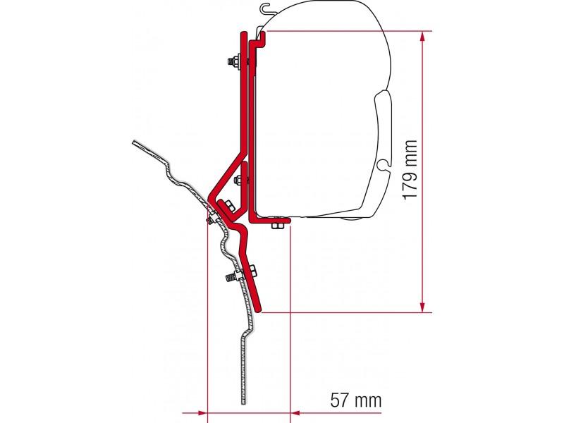 Fiamma VW T4, Lift Roof Adapter Kit