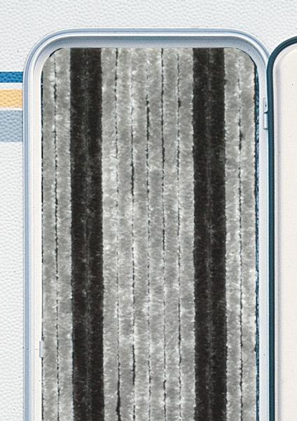 Chenille Flauschvorhang dunkelgrau 70x205 cm
