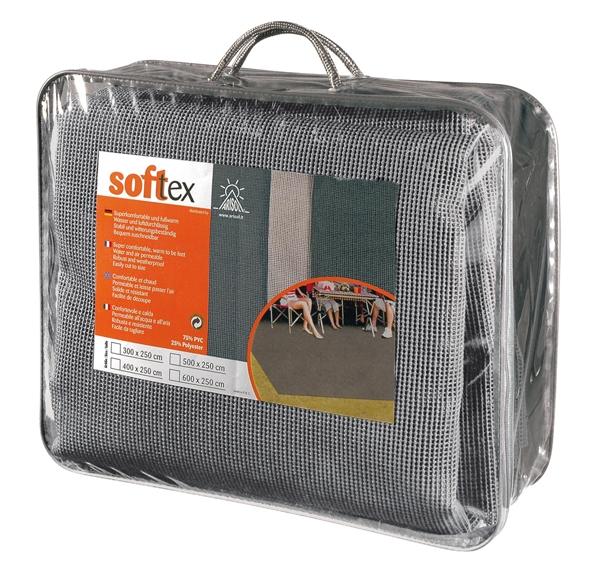 Zeltteppich SOFTTEX grau