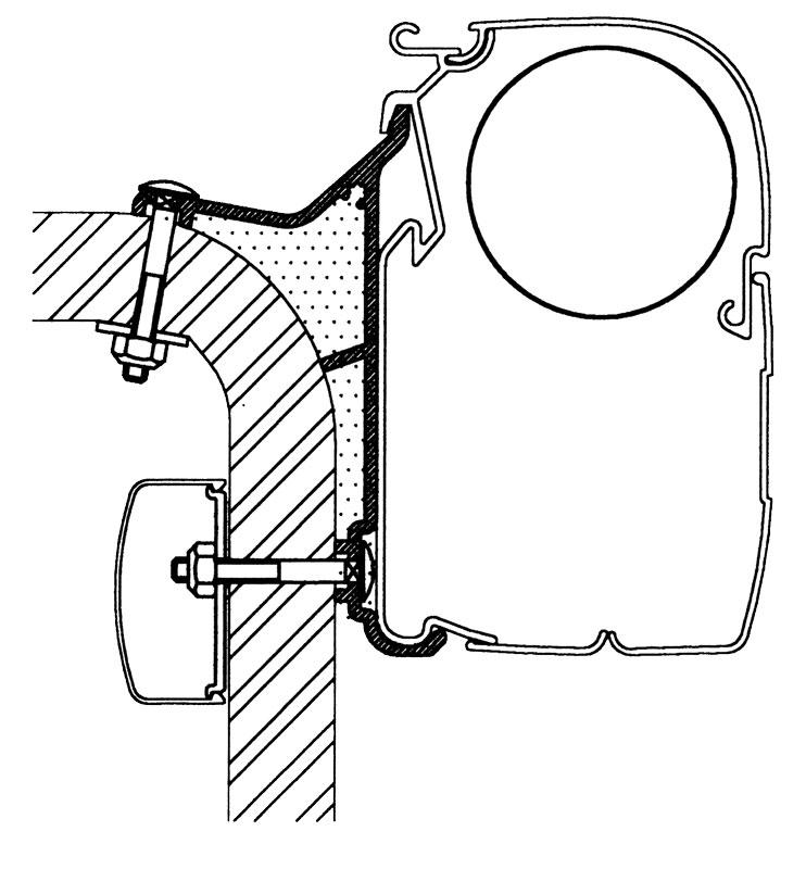 Thule Omnistor Hymer B2 Klasse Serie 5 Adapter 550 cm