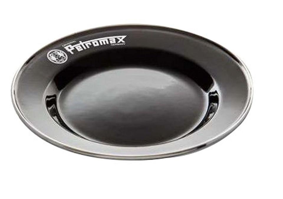 Petromax Emaille Teller 22 cm schwarz 2 Stück