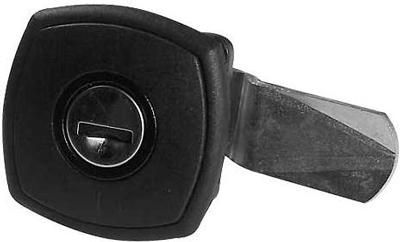 Safe-Tec Klappenschloss quadratisch.schwarz