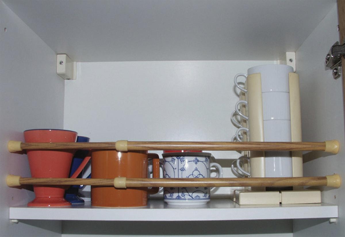 Teleskopierbare Klemmstange aus Alu 2-er Set