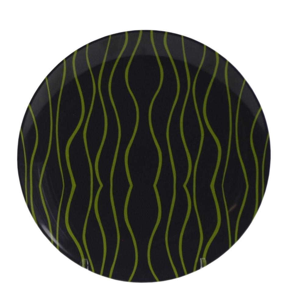 Gimex Essteller grau-lime 25,5 cm