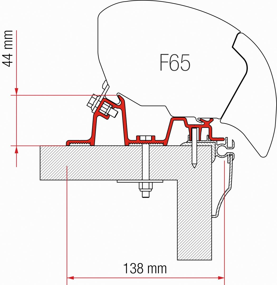 Fiamma F65 Hobby Caravan Adapter Kit ab 2009