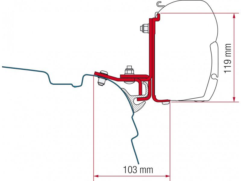 Fiamma VW T5/T6 Brandrup Adapter Kit