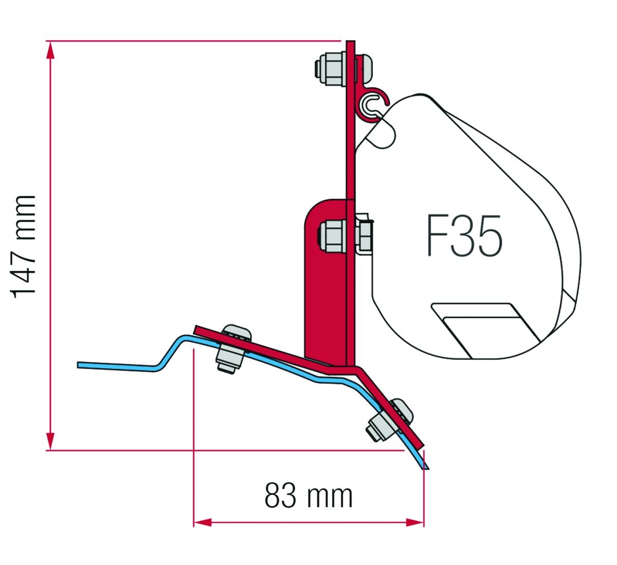 Fiamma Adapter F35 Kit Ford Custom
