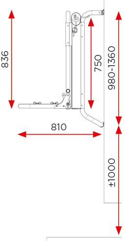 BR-Systems BIKE LIFT - Rail