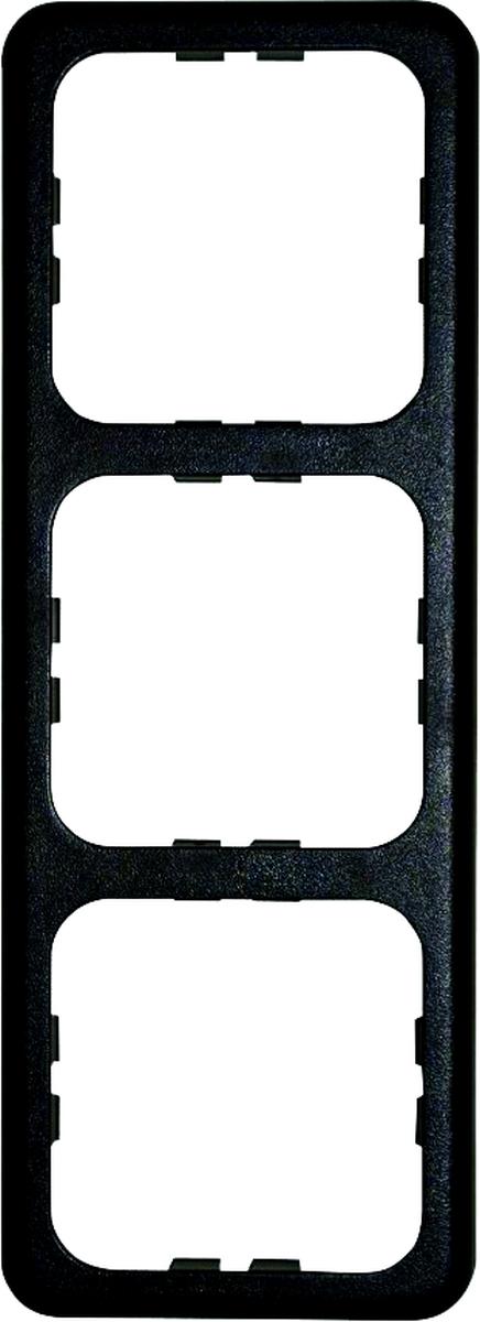 Rahmen dreifach, schwarz
