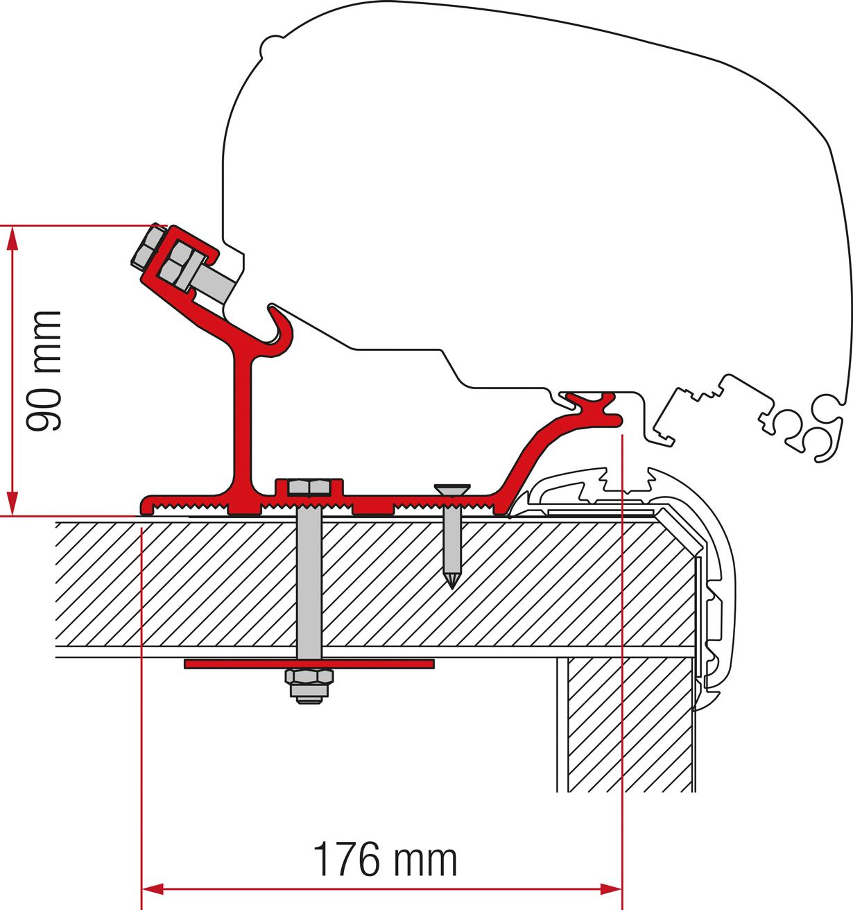 Fiamma F80/F65 Carthago Malibu Adapter 400 cm