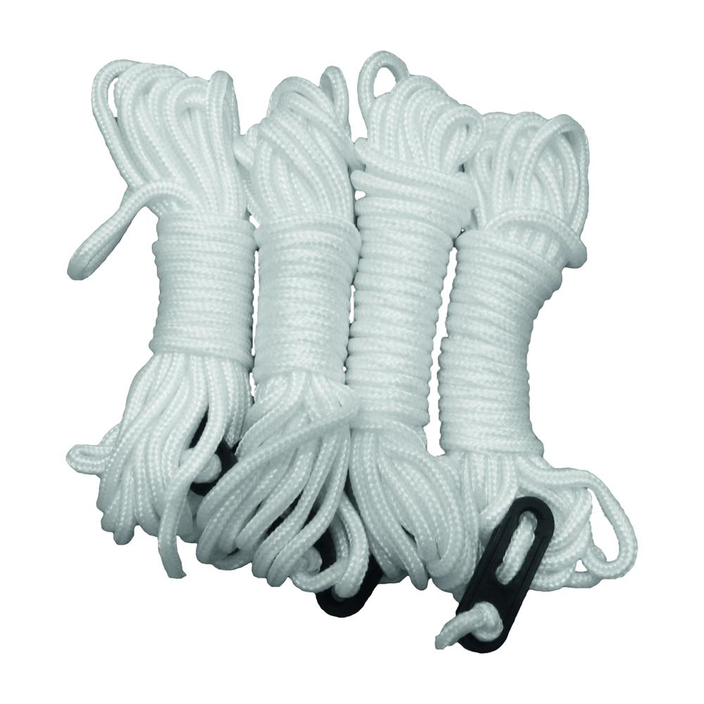Zeltleinen weiß 4 mm, 4 m 4er Pack