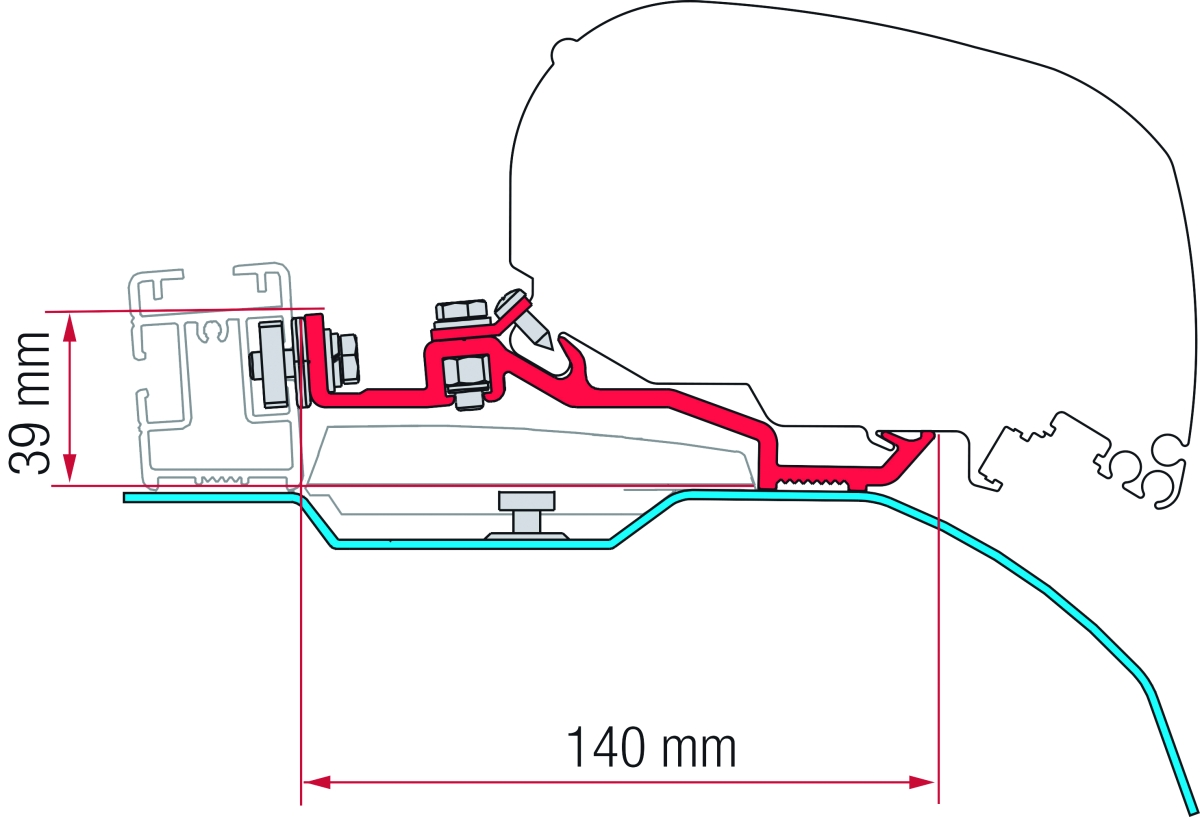 Fiamma Kit Ducato H2 Smart Clamp System