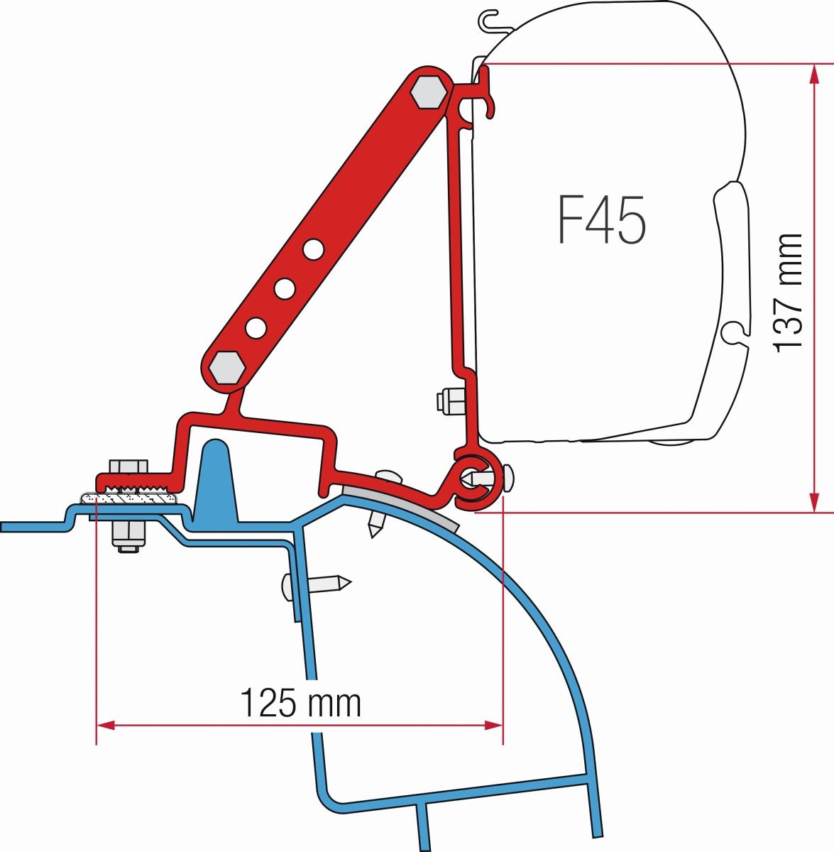Fiamma Renault Master H2, Opel Movano H2, Nissan Interstar Adapter