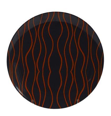 Gimex Essteller grau-orange 25,5 cm