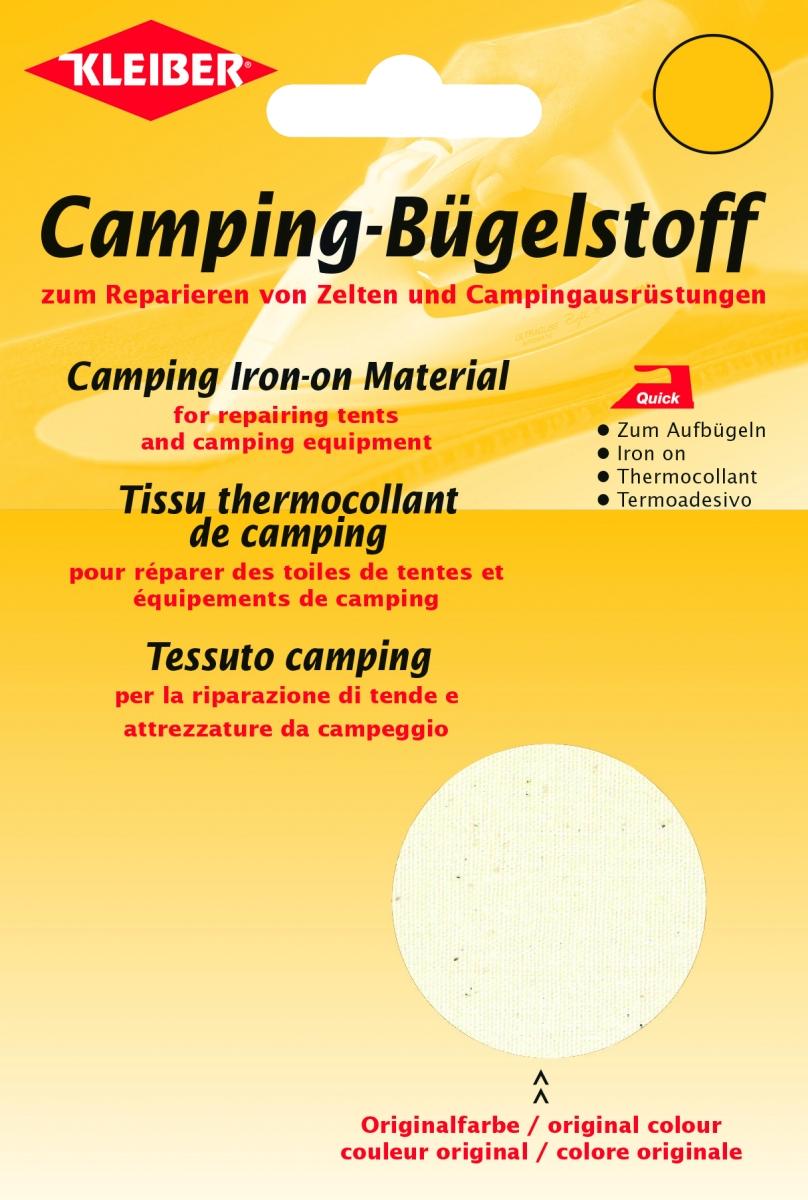 Camping Bügelstoff rohweiss