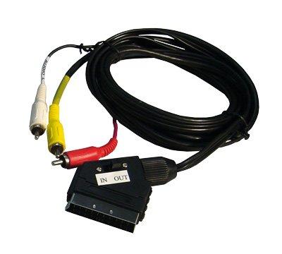 SCART-Adapter mit 2 m Kabel
