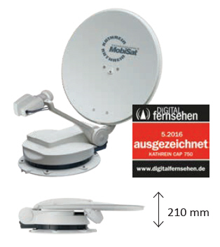 """Kathrein Komplettpaket CAP 750 GPS """"Die Leichte"""""""