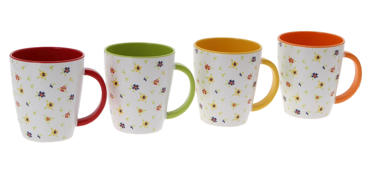 Gimex Henkelbecher-Set RAINBOW FLOWERS 4 tlg.