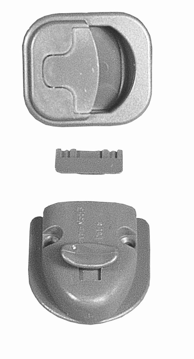 Toilettenraum-Verschluss Caravan-Mot-3-T grau