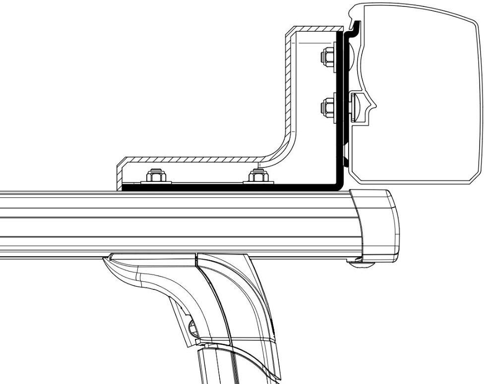 Thule Omnistor 3200 Dachträger Adapter