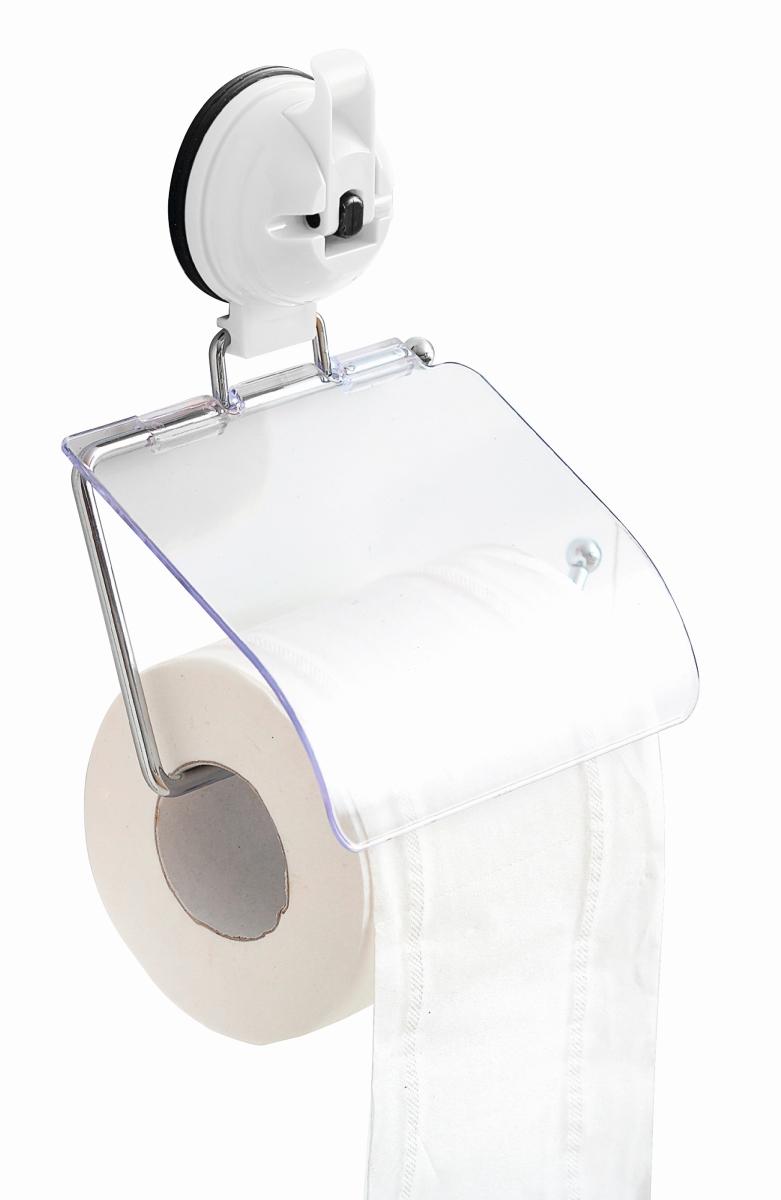 Saug Fix Toilettenpapierhalter weiß