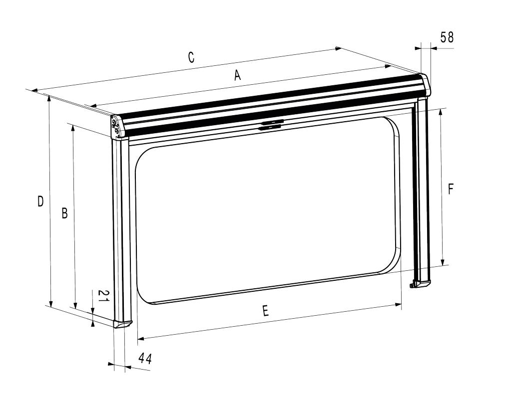 DOMETIC Rastrollo 3000 1760 x 810 mm