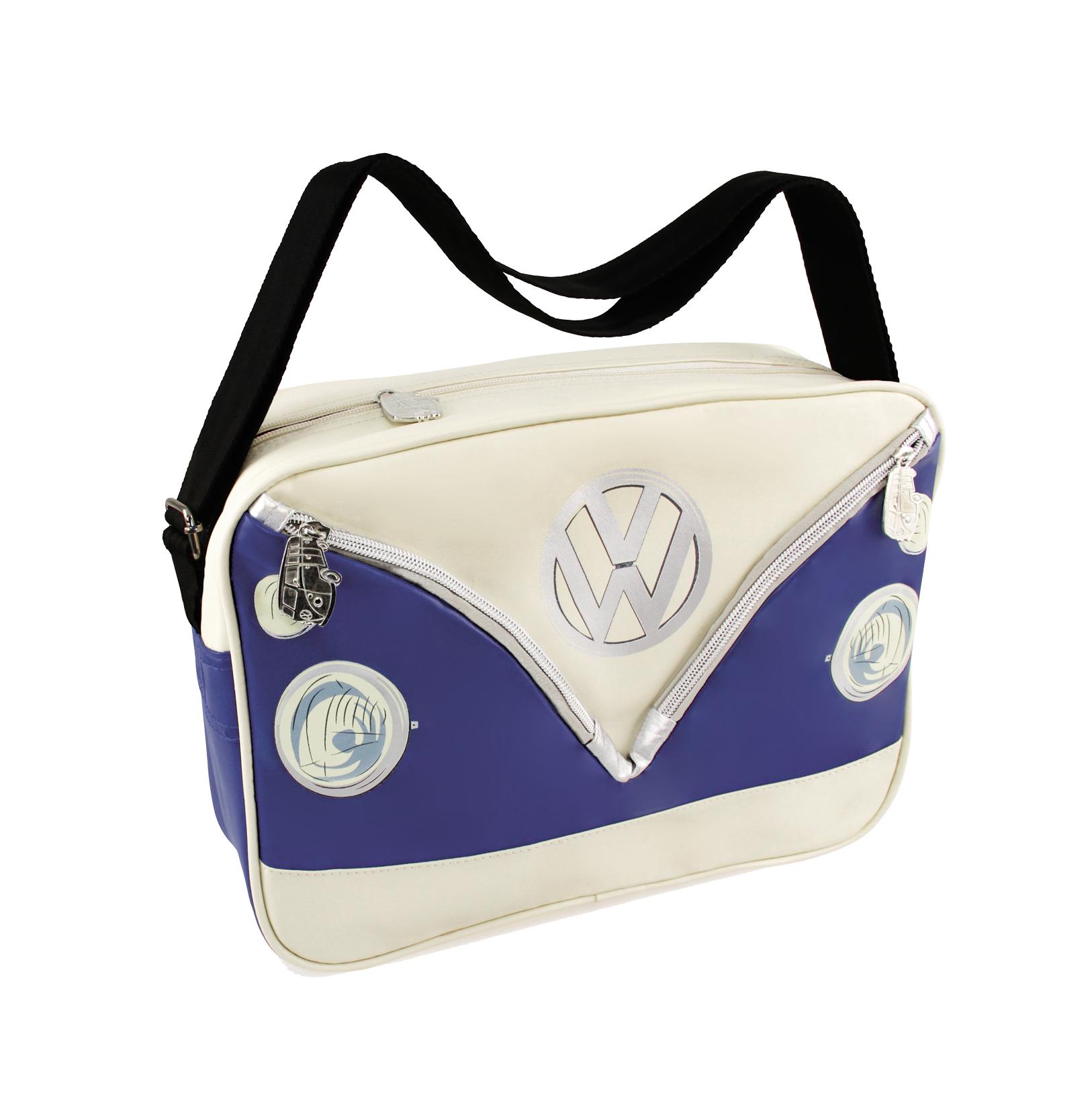 VW Collection Schultertasche blau-weiß