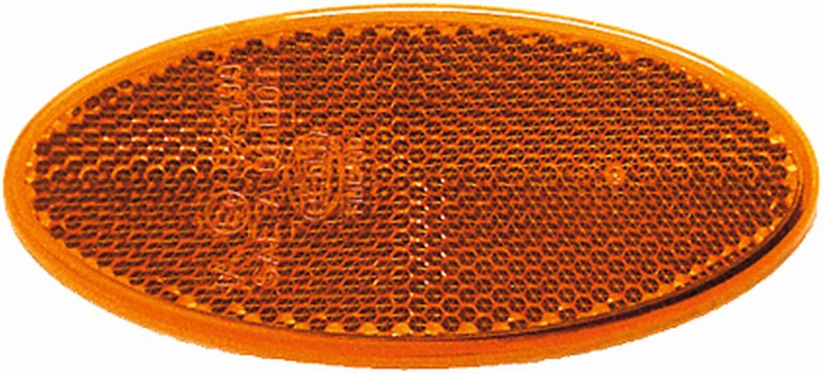 JOKON Rückstrahler oval selbstklebend gelb