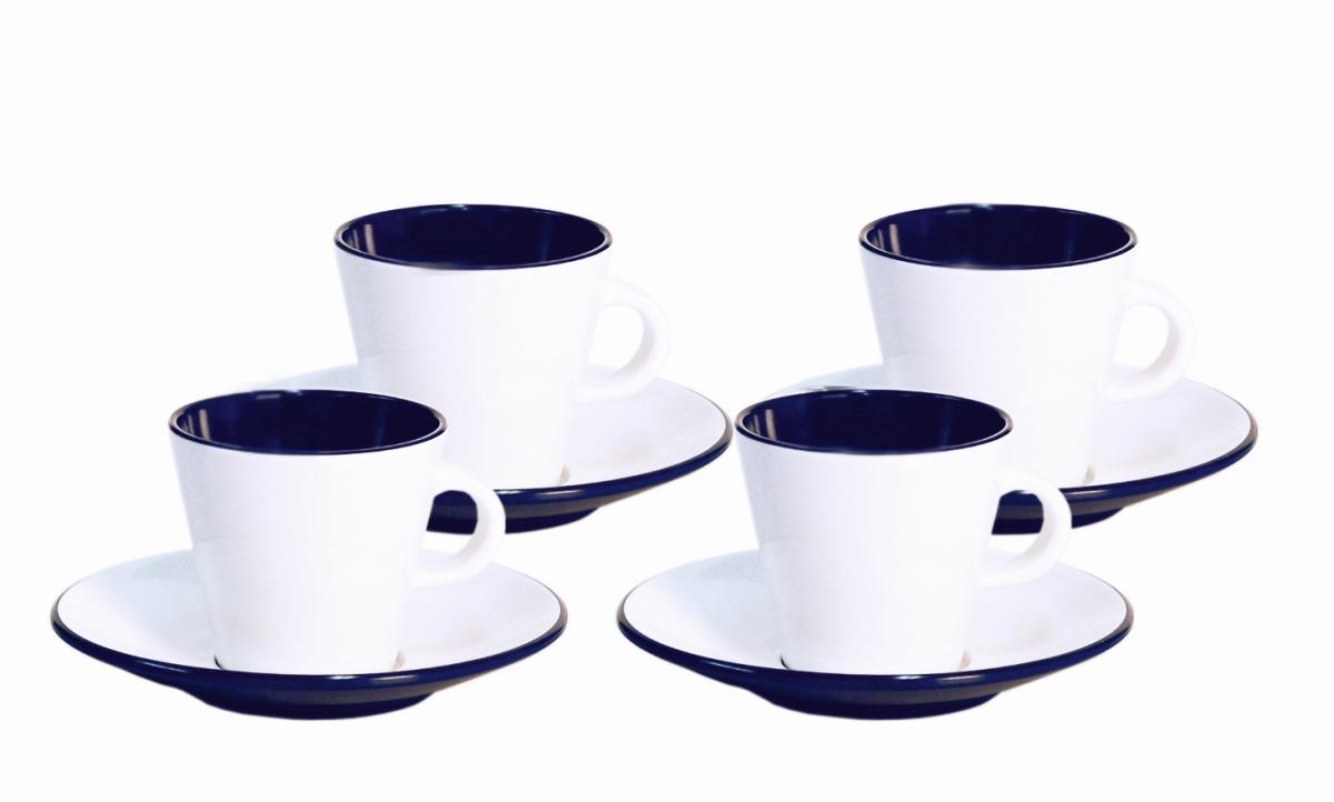 Gimex Espresso-Set LINEA blau 4 tlg.