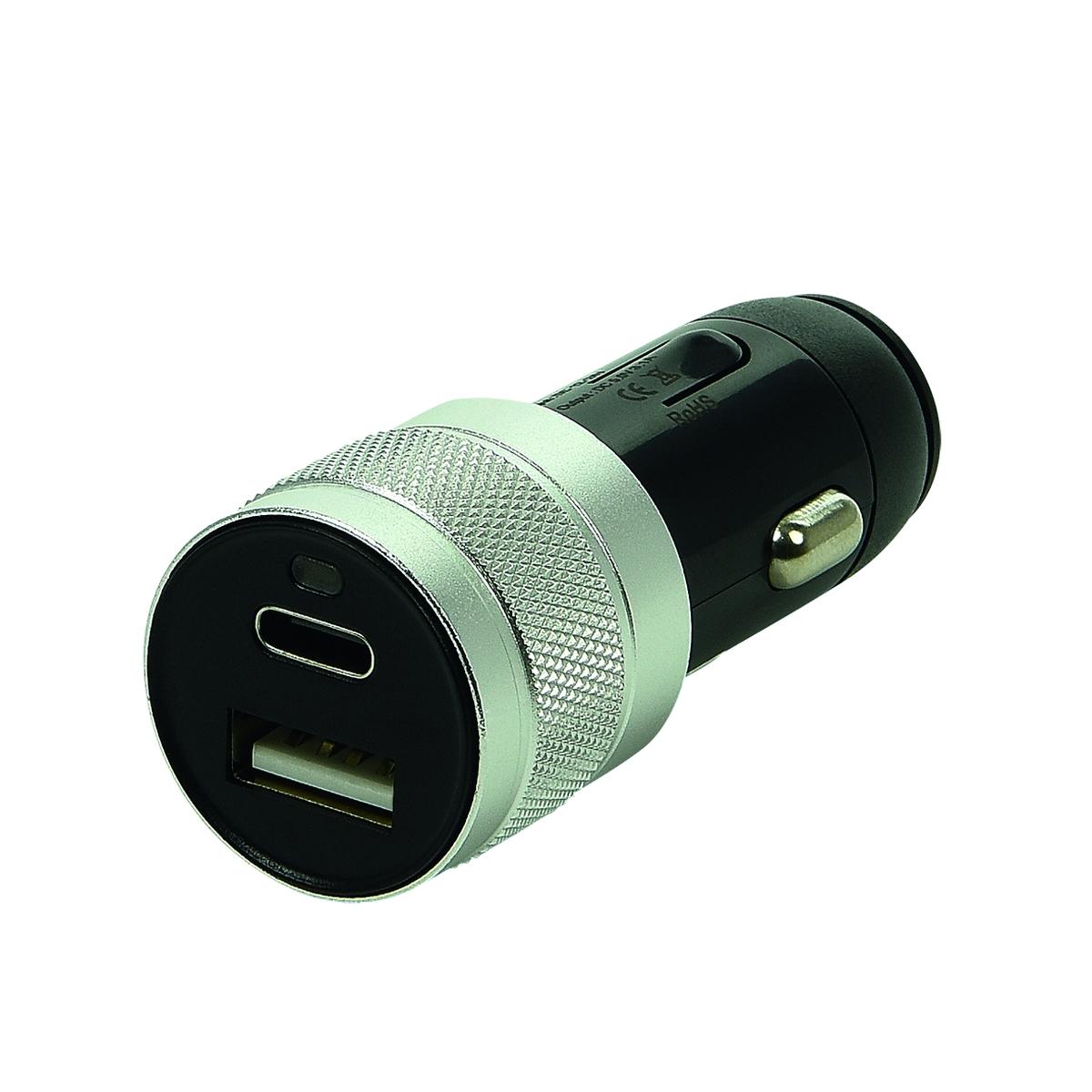 USB-Ladegerät Typ A+C zweifach